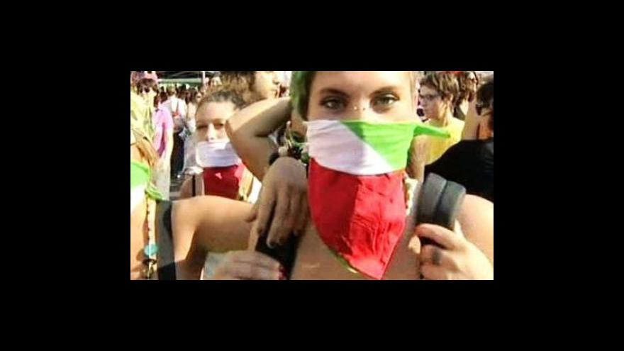 Video Italští novináři stávkují