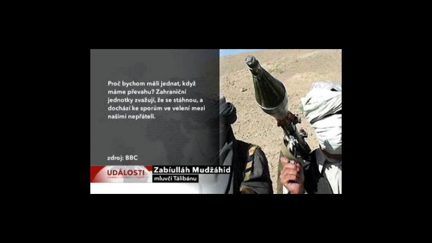 Video Talibán odmítl jednat s NATO