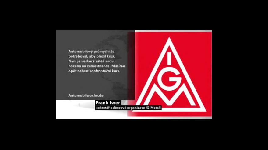Video Německé odbory chtějí vyšší mzdy