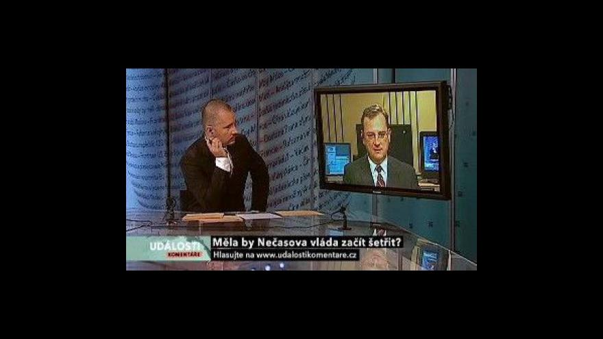 Video Petr Nečas v Událostech, komentářích