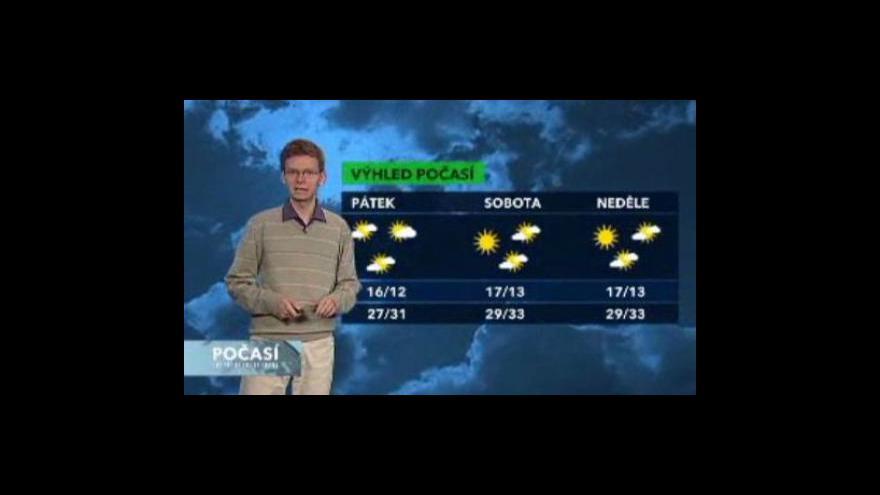 Video Předpověď počasí na následující dny