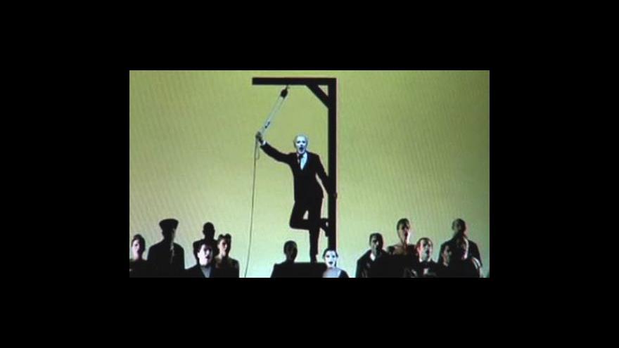 Video Monolog Roberta Wilsona a rozhovor s Michalem Dočekalem