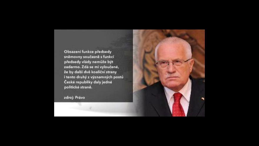 Video Václav Klaus varoval ODS