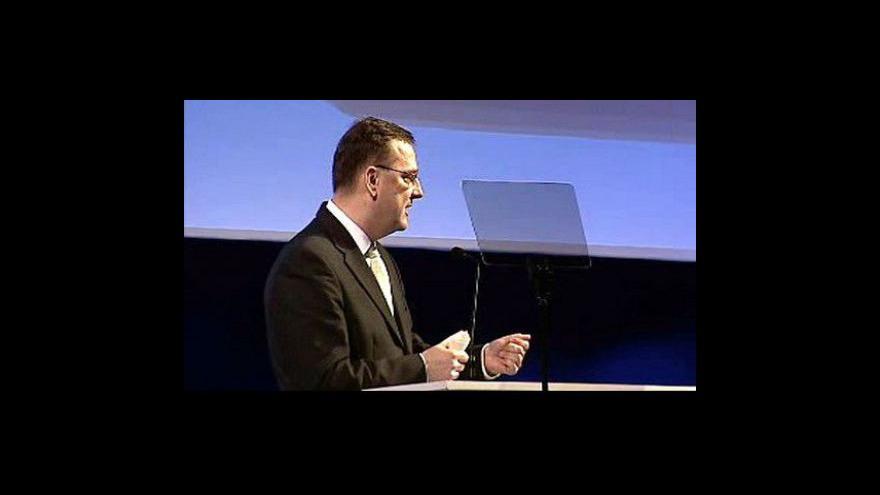 Video Kandidátský projev Petra Nečase