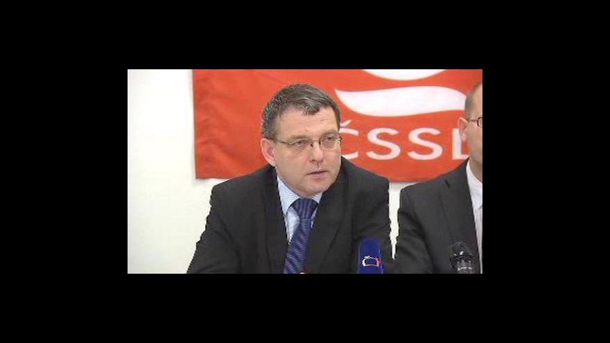 Video Tisková konference po zasedání ÚVV ČSSD