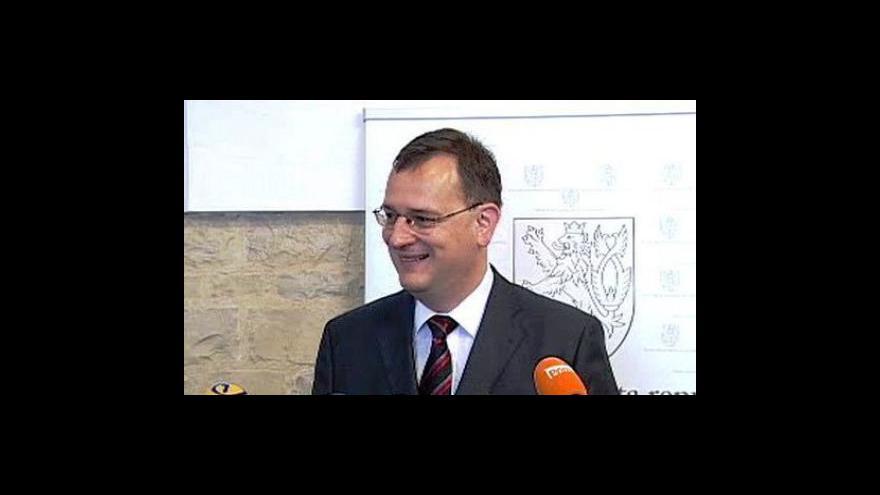 Video TK Petra Nečase po setkání s Václavem Klusem