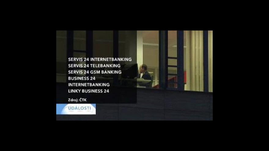 Video ČS odstaví příé bankovnictví
