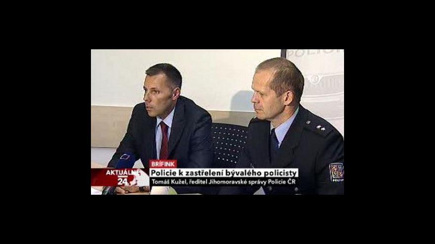 Video Policejní brífink k vraždě expolicisty
