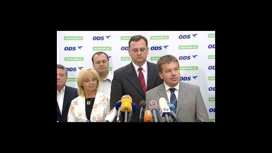 Video Tisková konference po jednání poslaneckého klubu ODS