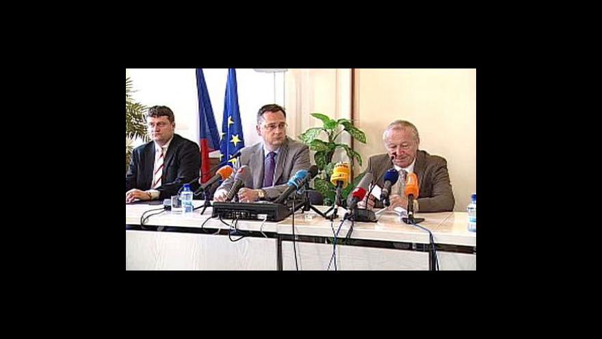 Video Tisková konference Eduarda Janoty a Petra Nečase