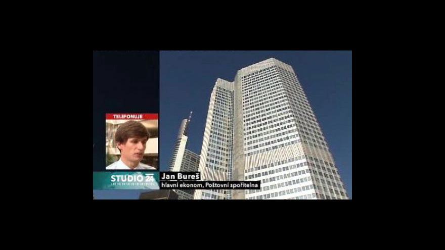Video Studio ČT24: ECB nechala sazby na minimu