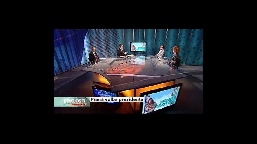 Video Události, komentáře o přímé volbě prezidenta