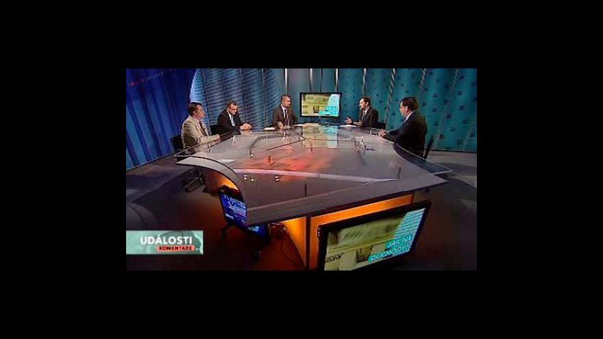 Video Debata politiků o důchodové reformě v Událostech, komentářích