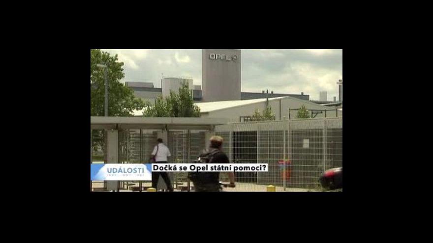 Video Německá vláda by mohla pomoci Opelu