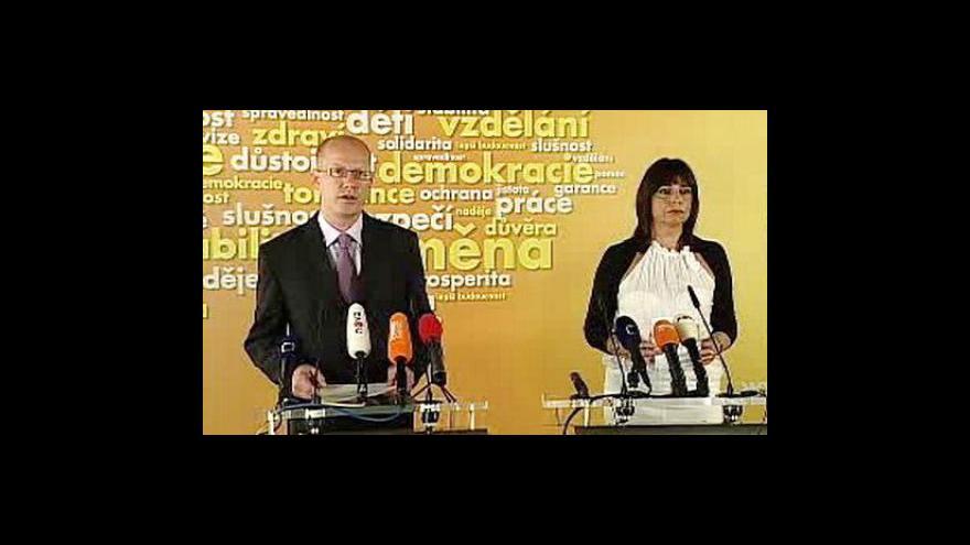 Video Tisková konference Bohuslava Sobotky