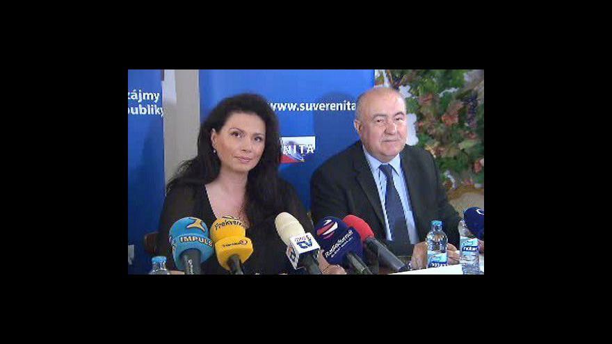 Video Tisková konference Suverenity