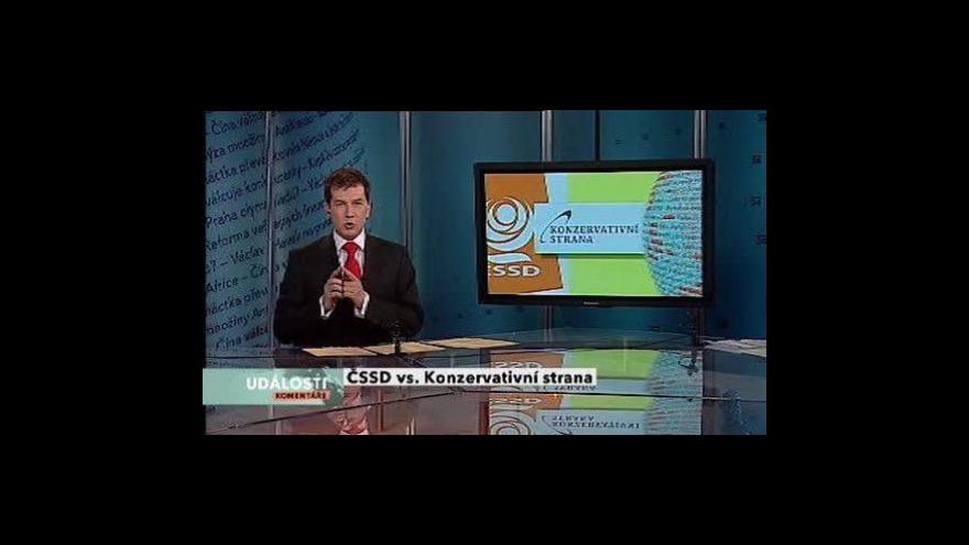 Video Předvolební duel ČSSD - Konzervativní strana