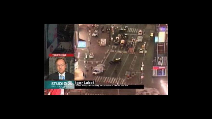Video Studio ČT24 - Igor Lukeš o terorismu