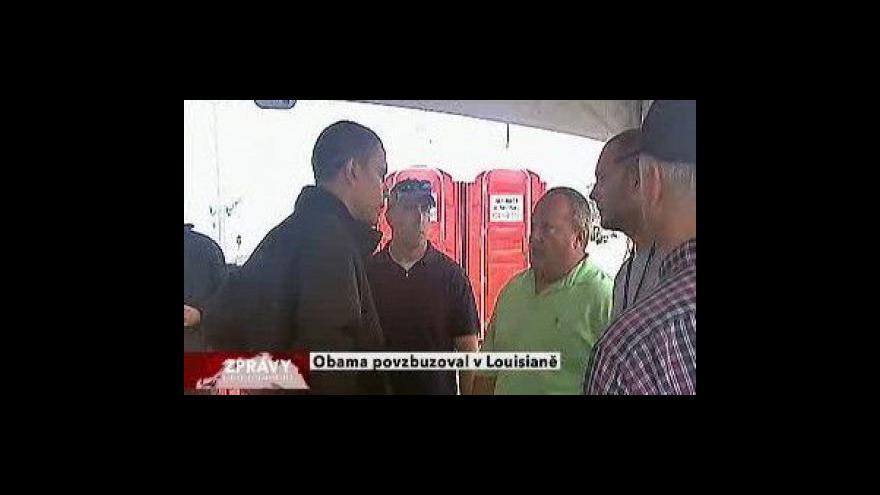 Video Obama byl podpořit Louisianu