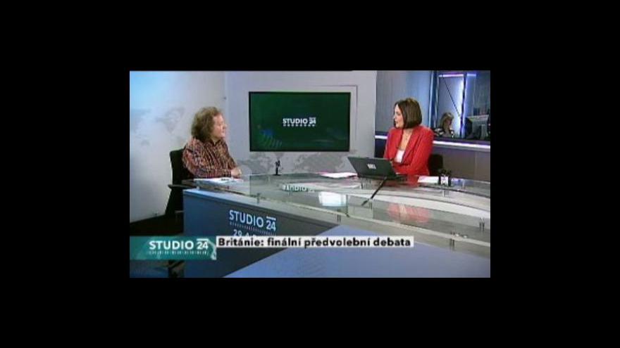 Video Studio ČT24 - Poslední britská předvolební debata