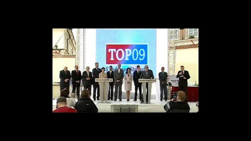 Video Brífing TOP 09 k předvolební kampani