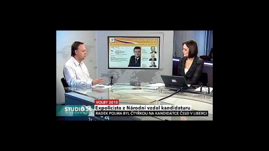 Video Politolog Jan Bureš ve Studiu ČT24