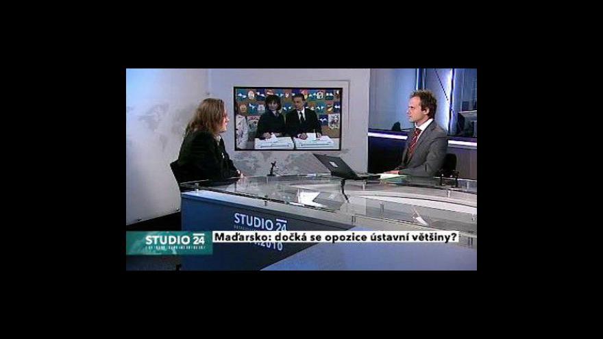 Video Studio ČT24 k maďarským volbám