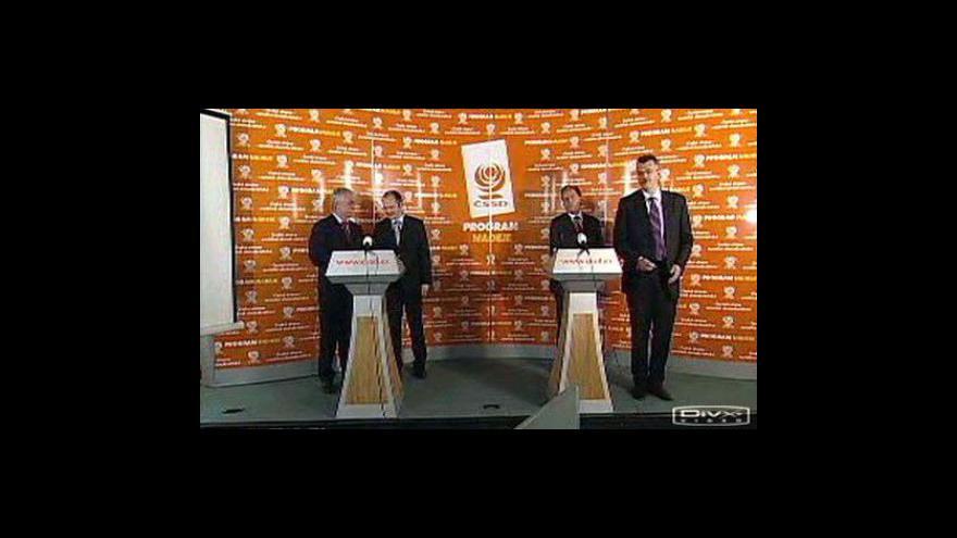 Video Brífink ČSSD ke kauze Vlček