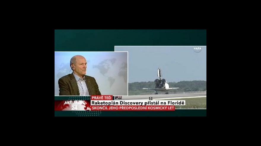 Video Přistání Discovery s komentářem Jana Koláře