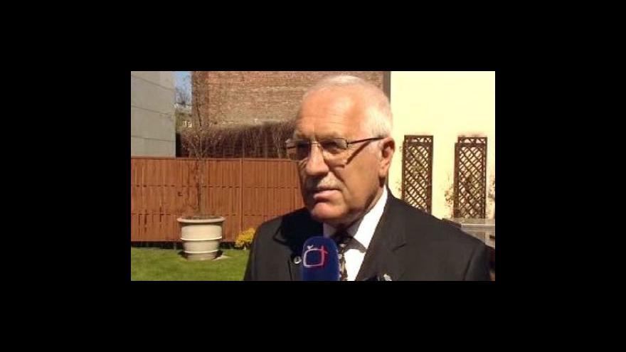 Video Vyjádření prezidenta Václava Klause