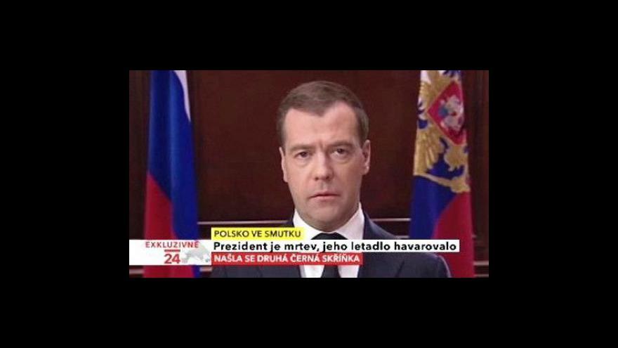 Video Projev ruského prezidenta Dmitrije Medvěděva