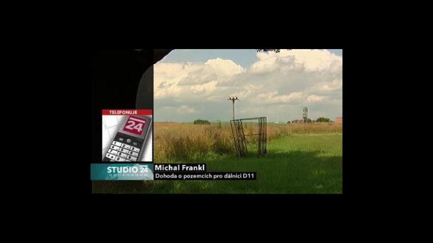 Video Vyjednavač Michal Frankl ve Studiu ČT24: