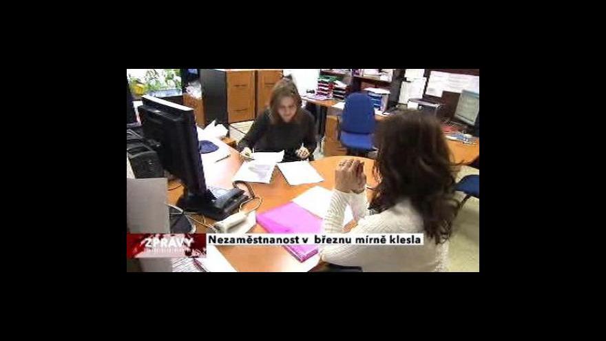 Video Nezaměstnanost v březnu