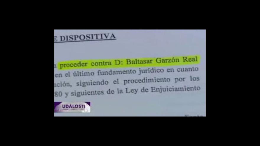 Video Soudce Baltasar Garzon půjde před soud