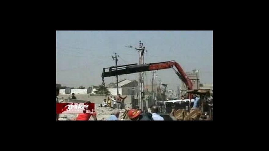 Video Další série výbuchů v Bagdádu