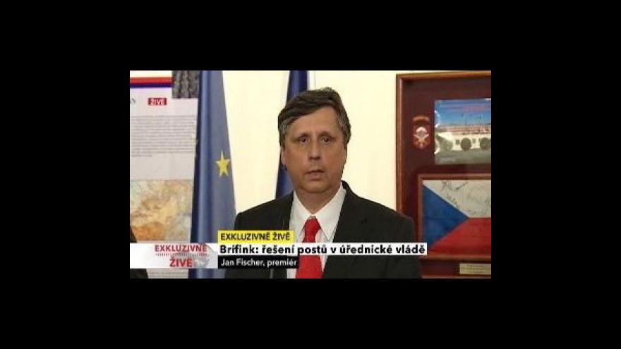 Video Tisková konference k personálnímu obsazení vlády