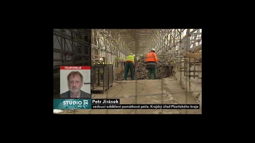 Video Památkář Plzeňského kraje Petr Jirásek ve Studiu ČT24