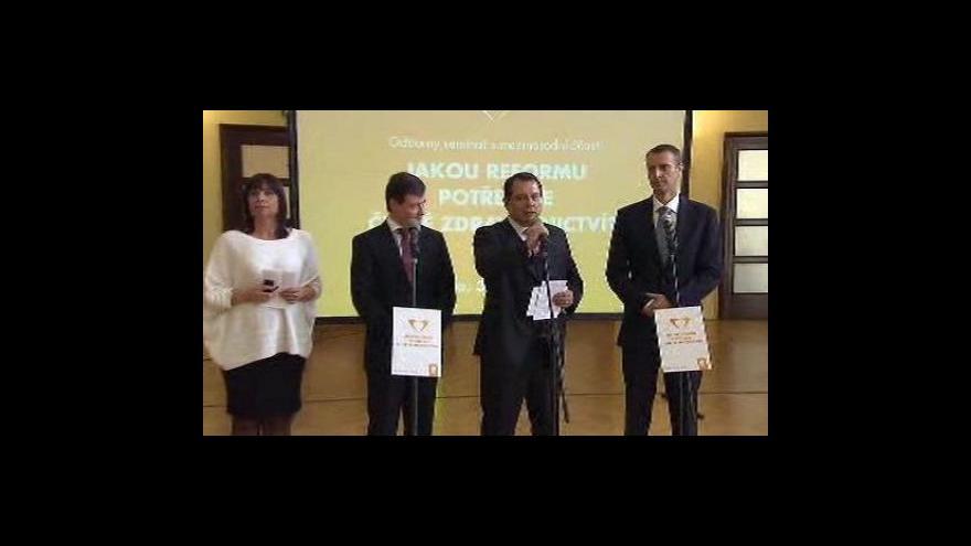 Video Brífink ČSSD k českému zdravotnictví