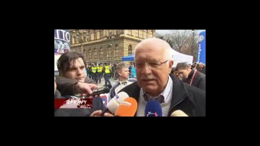 Video Václav Klaus reaguje na dění ve vládě