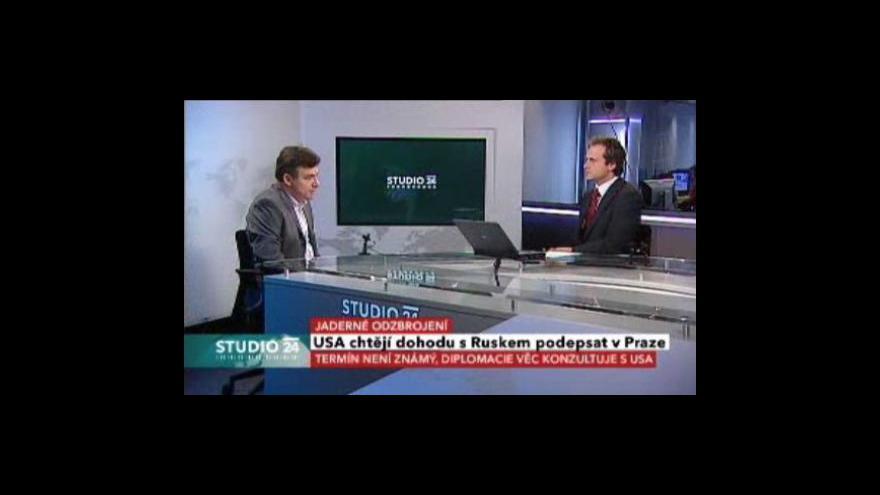 Video Studio ČT24 o nové odzbrojovací smlouvě