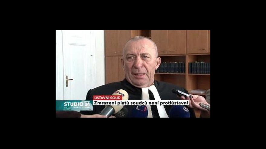 Video Studio ČT24 - zmrazení soudcovských platů