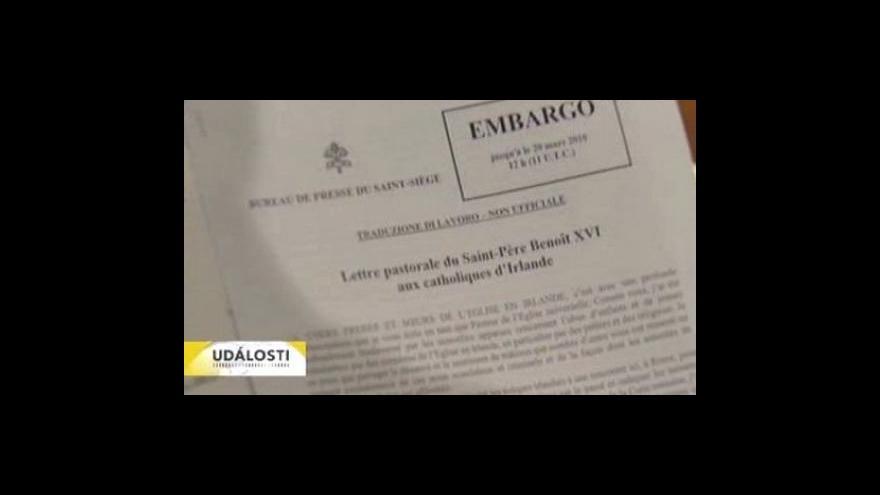 Video Papež se omluvil obětem zneužívání