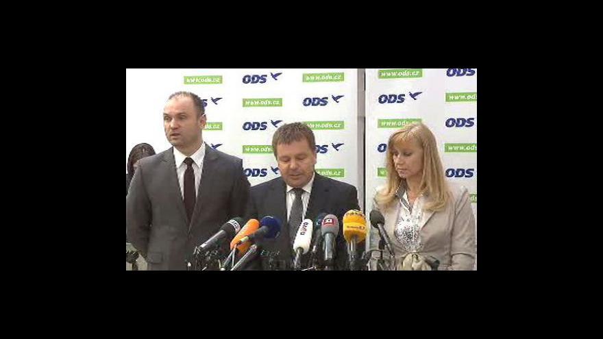 Video Tisková konference ODS