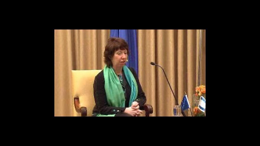 Video Catherine Ashtonová na Blízkém východě