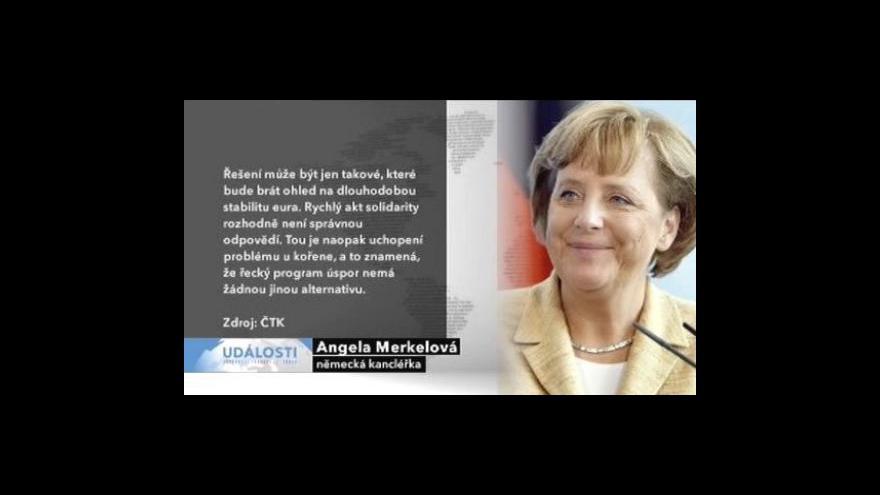 Video Merkelová chce vylučovat země z eurozóny