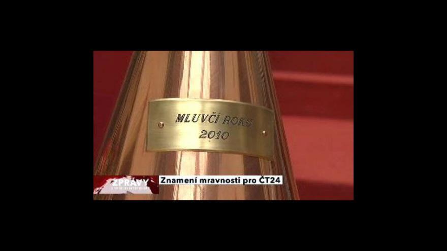 Video Udělovaly se ceny Mluvčí roku 2010