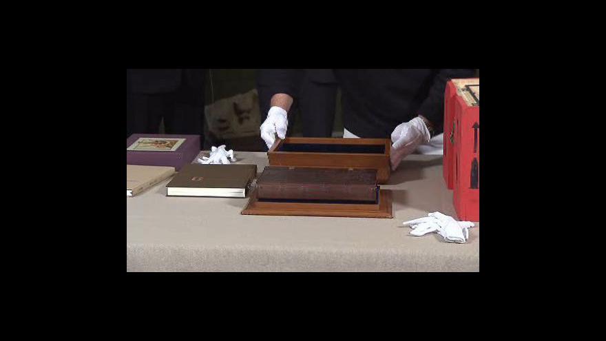 Video Instalace Jenského kodexu do Císařské konírny