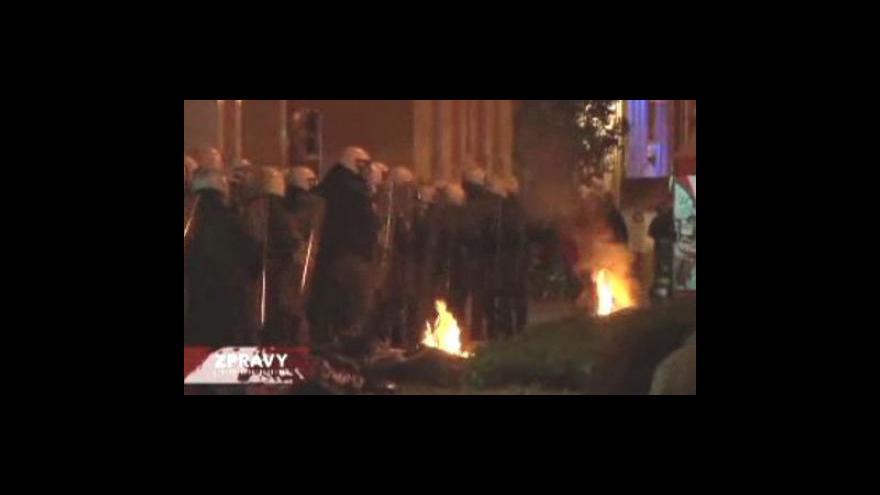 Video Odboráři se střetli s policií