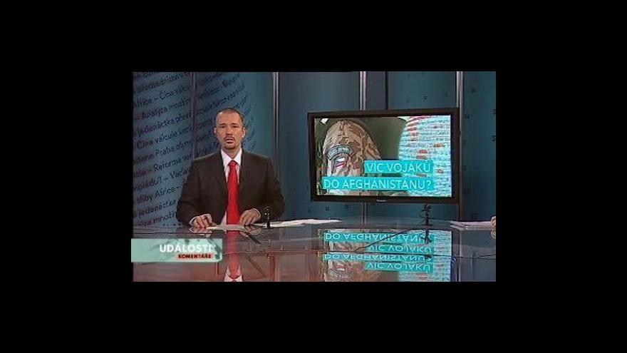 Video Události, komentáře o misi v Afghánistánu