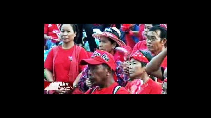 Video Čtvrtý den protivládních protestů v Bangkoku